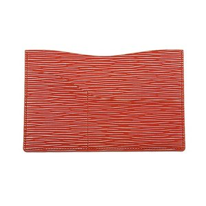 保険証 お薬手帳 が入る バッグイン スリム マルチ カードケース 7色に光る 牛革 キップ(オレンジ) zeppinchibahonpo
