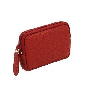 高級 本革 大人 の マルチポーチ 小さなお出かけバッグも すっきり 整理 手のひらサイズ 小物入れ(赤)|zeppinchibahonpo