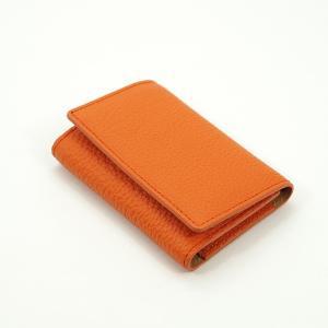 ドイツシュリンク 5連 キーケース 3つ折り カードポケット付 (オレンジ) zeppinchibahonpo