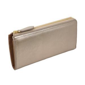 イタリアンキップ 本革 L字ファスナー型 長財布 キラキラ 可愛い レディース 財布(シャンパンゴールド)|zeppinchibahonpo