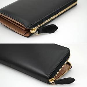 イタリアンカーフ 本革 L字ファスナー型 メンズ 長財布 ブラック|zeppinchibahonpo|04
