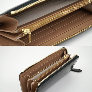 イタリアンカーフ 本革 L字ファスナー型 メンズ 長財布 ブラック|zeppinchibahonpo|05