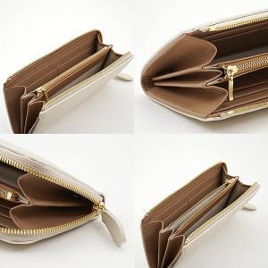オリジナルレザー Mezzo Shrink L字ファスナー型 本革 長財布 (アイボリー) 着物にも合わせやすい レディース財布|zeppinchibahonpo|04