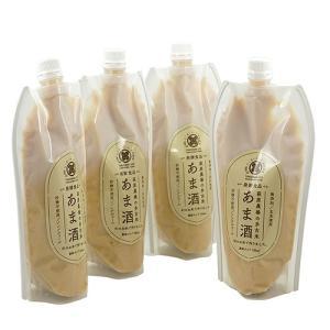 萩原農場のあま酒 砂糖不使用 無添加 特別栽培米で作った 甘酒 濃縮タイプ 【玄米】 500ml×4本|zeppinchibahonpo