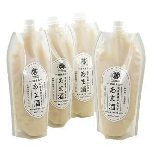 萩原農場のあま酒 砂糖不使用 無添加 特別栽培米で作った 甘酒 濃縮タイプ (白米) 500ml×4本|zeppinchibahonpo