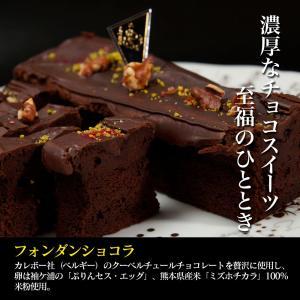 【4本セット】高級チョコレートケーキ 木更津の有名店 アトリエアッシュプリュス フォンダンショコラ zeppinchibahonpo
