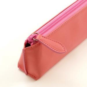 牛革 スムース レザー ペンケース (ピンク) 大人 女子 の かわいい 本革 筆箱 zeppinchibahonpo 04