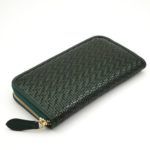 スペイン 牛革 メッシュ ラウンドファスナー 長財布 (グリーン) 大きい 財布|zeppinchibahonpo|03