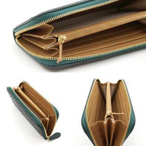 スペイン 牛革 メッシュ ラウンドファスナー 長財布 (グリーン) 大きい 財布|zeppinchibahonpo|04