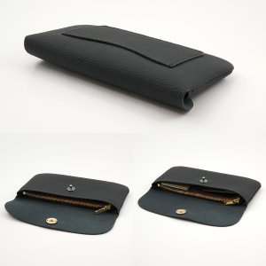 ドイツシュリンク ふっくら 可愛い 長財布 弾力ある革が魅力の カブセ型 本革 レディース 財布 マグネット式(ブラック) zeppinchibahonpo 04