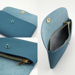 ドイツシュリンク ふっくら 可愛い 長財布 弾力ある革が魅力の カブセ型 本革 レディース 財布 マグネット式(ジーンブルー)|zeppinchibahonpo|05