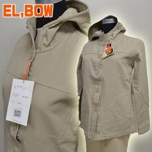 EL ′BOW春用 レディースキャンバス コートジャケット フード付 Mサイズ (サンドベージュ・ベージュ・オフホワイト)|zero-com
