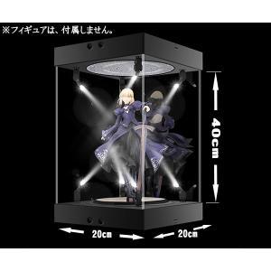 40cm フィギュア ディスプレイケース スポットライト8発 コレクション 複数連結可 回転式ターンテーブル アクリル 簡単組み立て 人形 展示|zero-com