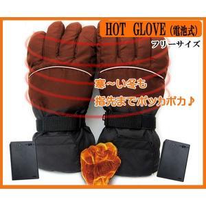 SALE 電池式 ホットグローブ 寒い冬でも指先までポッカポカ♪ 防水加熱手袋 防滴 男女兼用フリーサイズ バイク 自転車 釣り|zero-com