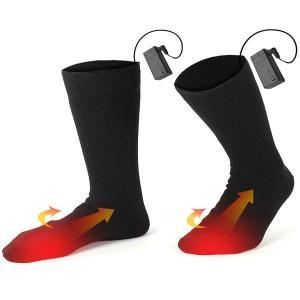 送料無料 電池式 加熱ソックス 電熱靴下 フリーサイズ 防寒 冷え性対策 スキー 釣り バイク アウトドア 作業 工事現場 |zero-com|02