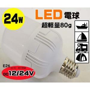 LED電球 24W F−2 DC12V.24V兼用 軽量80g 船舶 重機 作業灯 集魚灯●LED電球F−2|zero-com