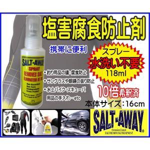 塩害腐食防止剤  ソルトアウェイ SALTAWAY携帯スプレー118ml 釣り・リール 眼鏡●ソルト7|zero-com