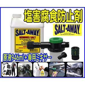 塩害腐食防止/ソルトアウェイ SALT-AWAYミキサー&原液セット/ウェット釣り●ソルト2|zero-com