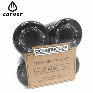 Carver カーバー スケートボード ウィール 4個1セット ROUNDHOUSE PARK WHEEL 58mm 90a|zero1surf
