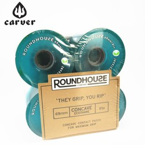Carver カーバー スケートボード ウィール 4個1セット ROUNDHOUSE CONCAVE ECO WHEEL 69mm 81a|zero1surf