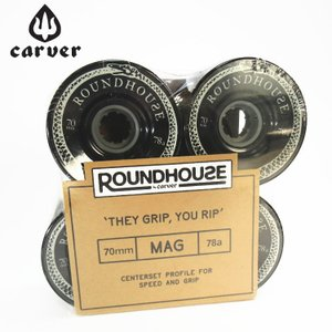 Carver カーバー スケートボード ウィール 4個1セット ROUNDHOUSE MAG WHEEL 70mm 78a|zero1surf