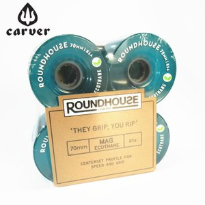 Carver カーバー スケートボード ウィール 4個1セット ROUNDHOUSE MAG ECO WHEEL 70mm 81a|zero1surf