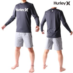 Hurley(ハーレー) ラッシュガード メンズ 長袖 ラッシュガード ルーズフィット ONE&ONLY(ワンアンドオンリー)モデル 男性用ラッシュガード Hurley Rashguard|zero1surf