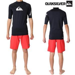 クイックシルバー ラッシュガード メンズ All Time(オールタイム) 男性用ラッシュガード 半袖ラッシュガード  Quiksilver Rashguard|zero1surf
