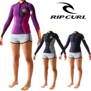 リップカール ウェットスーツ レディース 長袖タッパー フロントハーフジップ ウエットスーツ サーフィンウェットスーツ Ripcurl Wetsuits|zero1surf