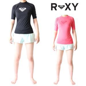 ロキシー ラッシュガード レディース 半袖 ラッシュガード Heartedモデル 女性用ラッシュガード Roxy Lady's Rashguard|zero1surf