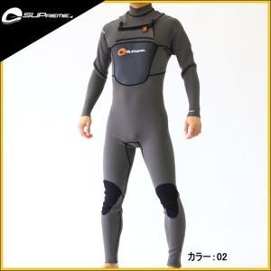 スプリーム  SUP用ウェットスーツ メンズ 3×2×1mm チェストジップフルスーツウエットスーツ|zero1surf