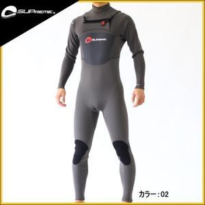 スプリーム  SUP用ウェットスーツ メンズ 4×3×2mm チェストジップフルスーツ ウエットスーツ|zero1surf