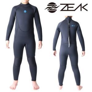 ZEAK SPORTS ジークスポーツ サーフライン ウェットスーツ キッズ・ジュニア・子供用 5ミリ フルスーツ ウエットスーツ