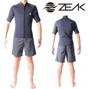 ZEAK WETSUITS ジークウェットスーツ サーフライン メンズ 半袖ジャケット ウエットスーツ|zero1surf
