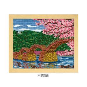 オリムパス ししゅうキット 四季を彩る「日本の名所」桜と錦帯橋 7459(オフホワイト) zerocon