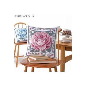 オリムパス クロス・ステッチししゅうキット 美しい花たち クッション レッドローズ 6057(オフホワイト) zerocon
