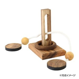 ウッドパズル 3D知恵の輪 10719850038|zerocon