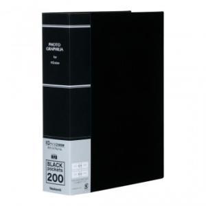 ナカバヤシ フォトグラフィリア ポケットアルバム KG判2段200P ブラック PHKG-1020-D|zerocon