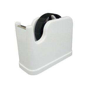 ナカバヤシ テープカッター ラウンド ホワイト NTC-201W|zerocon