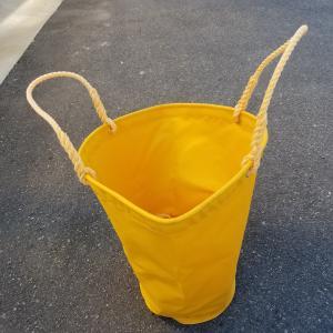 黄色生地洗車袋・洗浄袋・洗車バケツ・洗浄バケツ・布バケツ 小型車用 ミキサー車、アジテーター車、シュート|zerocon