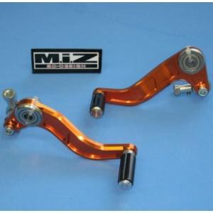 KTM 125Duke スペシャルペダルセット(シフトペダル・ブレーキペダル)アルミ製オレンジアルマイト MIZ(エムアイゼット)|zerocustom