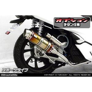 PCX125(2BJ-JF81) ロイヤルマフラー スポーツタイプ チタン仕様 ウイルズウィン(WirusWin)|zerocustom