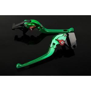 KTM 1190 RC8/R '09〜'16 可倒式アジャストレバーセット 3D レバー:グリーン   SSK(エスエスケー) zerocustom