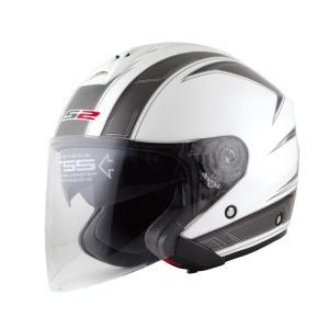 【セール特価】LS2 FREEWAY(フリーウェイ) エスプリホワイト Lサイズ ツインシールド・ジェットヘルメット MHR|zerocustom