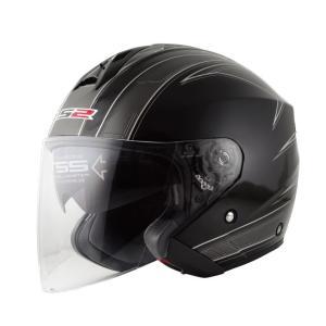 【セール特価】LS2 FREEWAY(フリーウェイ) エスプリブラック Lサイズ ツインシールド・ジェットヘルメット MHR|zerocustom