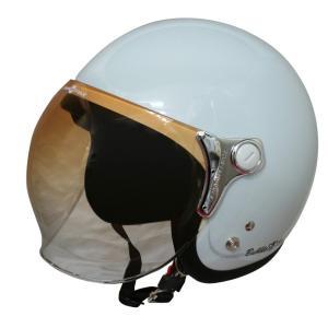 【セール特価】BUBBLE-BEE(バブル・ビー)パールホワイト フリーサイズ(57〜60cm未満)ジェットヘルメット DAMM TRAX(ダムトラックス) zerocustom