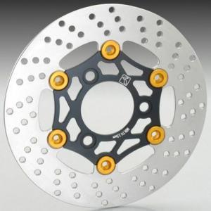 モンキー(MONKEY) フローティングディスクローター typeB(ブラックインナー・ゴールドピン) KITACO(キタコ)|zerocustom
