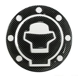 イナズマ400(INAZUMA) スズキ車7穴汎用 タンクキャップカバー3 カーボンルック MAD MAX(マッドマックス)|zerocustom