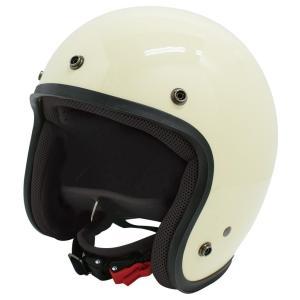 【セール特価】JET-D(ジェット・ディー)パールアイボリー メンズフリーサイズ(57-60cm)ジェットヘルメット DAMM TRAX(ダムトラックス) zerocustom