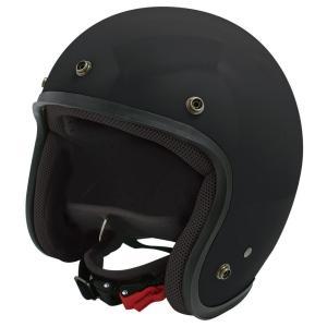 【セール特価】JET-D(ジェット・ディー)マットブラック メンズフリーサイズ(57-60cm)ジェットヘルメット DAMM TRAX(ダムトラックス) zerocustom